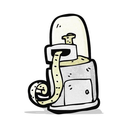 ticker: cartoon stock ticker machine