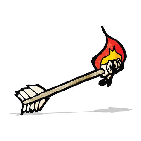 flaming: flaming arrow cartoon Illustration