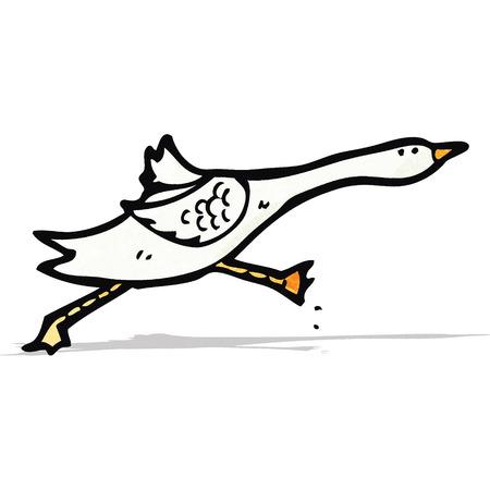cartoon goose 向量圖像