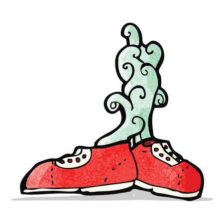 smelly: smelly old trainers cartoon