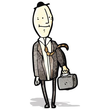 egghead: cartone animato uomo d'affari egghead