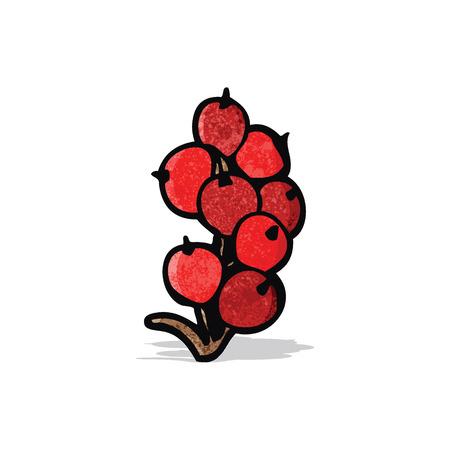 frutos rojos: bayas de dibujos animados
