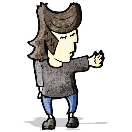 cartoon cool guy Иллюстрация