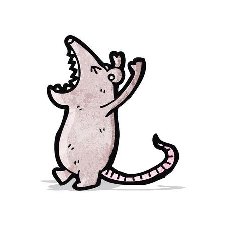 mouse cartoon: roaring mouse cartoon