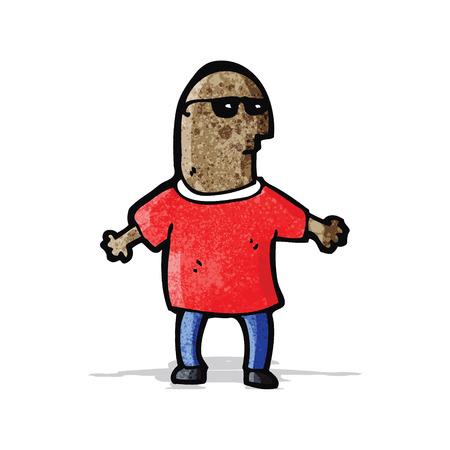 cool guy: cartoon cool guy Illustration