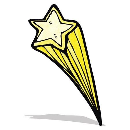 shooting stars: cartoon shooting star Illustration