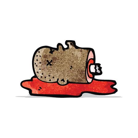 severed: gross severed head cartoon Illustration