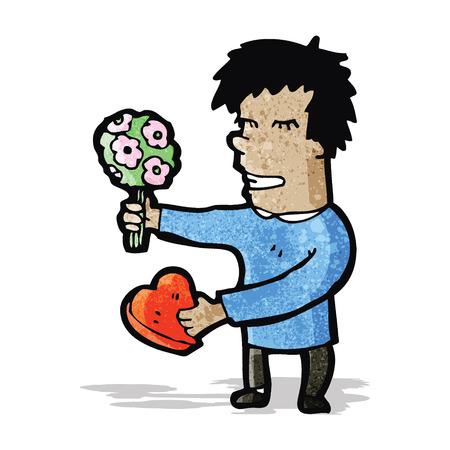 hombre romantico: cartoon man romantic man