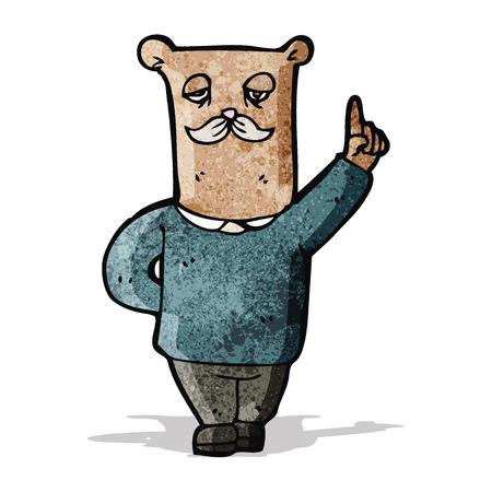 cartoon old bear with idea Vector