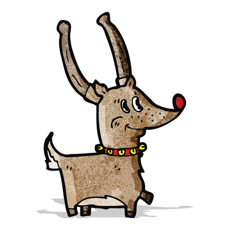 cartoon reindeer: cartoon reindeer