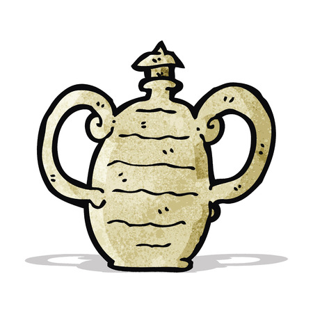 clay pot: cartoon old clay pot