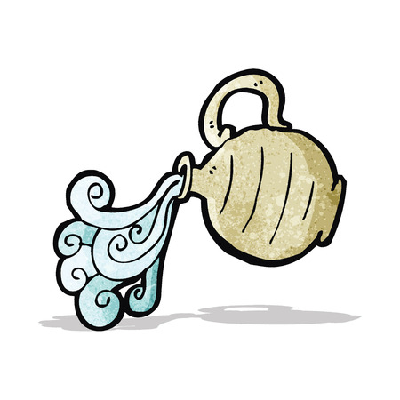 water jug: cartoon pouring water jug