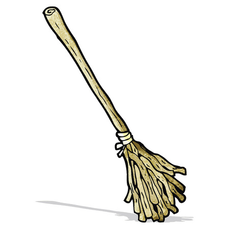 besom: cartoon witchs broom