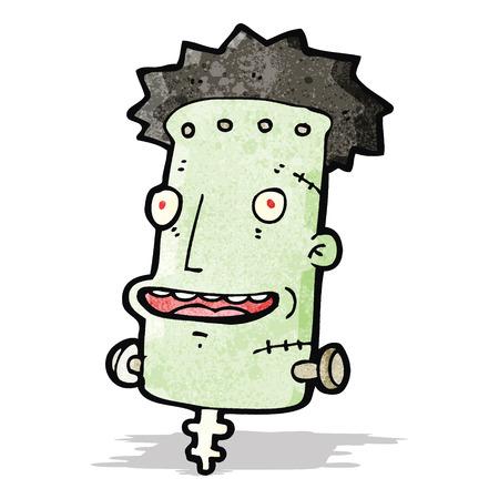 cartoon zombie monster;head Illustration
