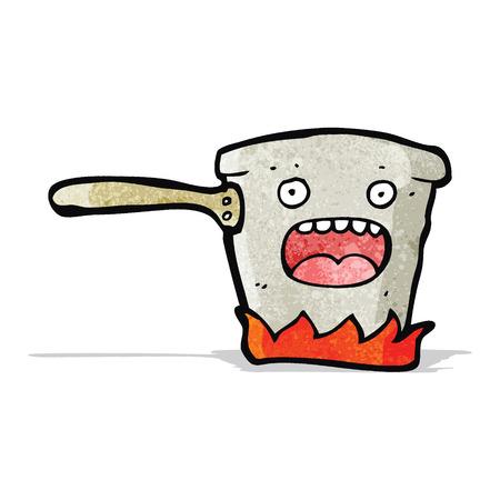bubbling: bubbling kitchen pot cartoon Illustration