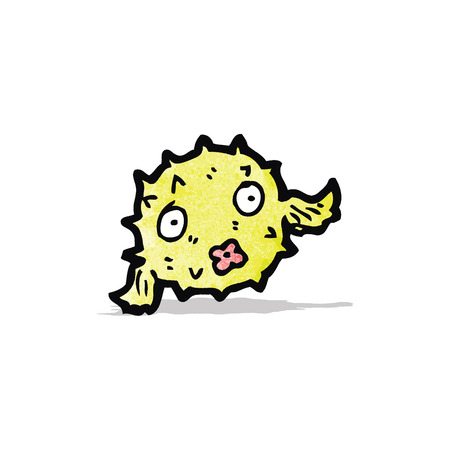 puffer: cartoon puffer fish