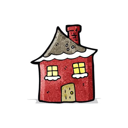 kârlı: cartoon snowy cottage