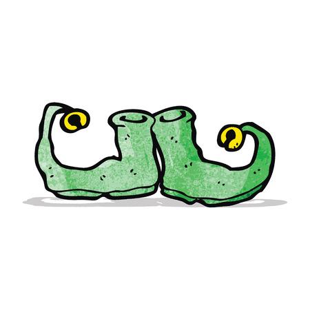 cartoon elfe: Cartoon Elf Schuhe Illustration