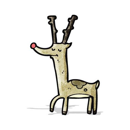proud: proud reindeer cartoon Illustration