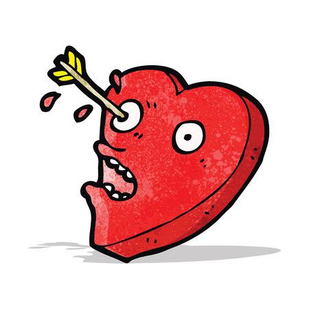 love heart cartoon character Vector