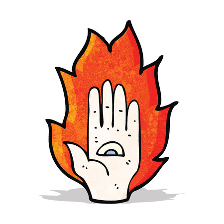 mystic: mystic hand symbol cartoon Illustration