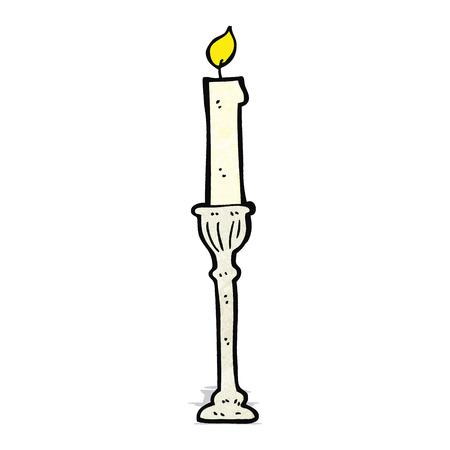 candlestick: cartoon candlestick