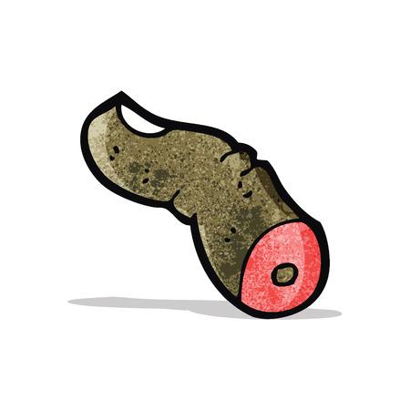 severed finger cartoon