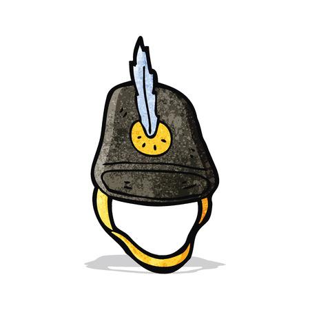 old military hat cartoon Illustration