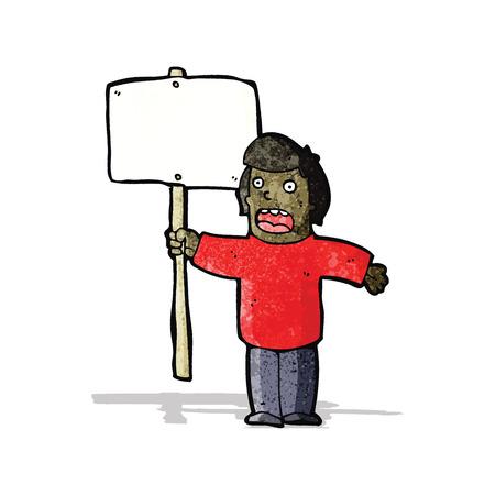 protester: cartoon political protester