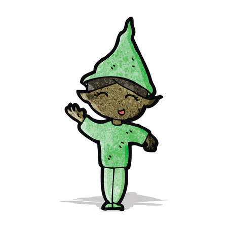 cartoon elfe: Cartoon Elf