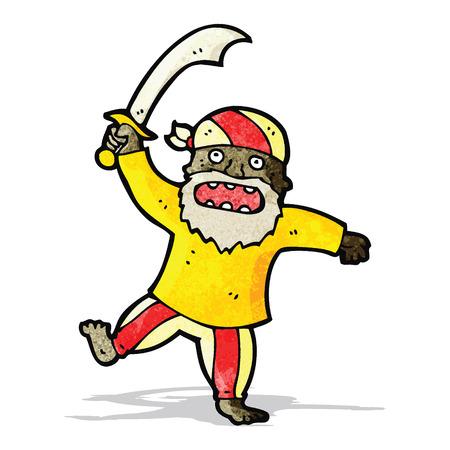 feroz: feroz desenhos animados do pirata Ilustra��o