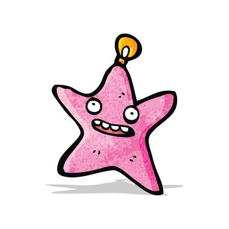 cartoon christmas star bauble Vector