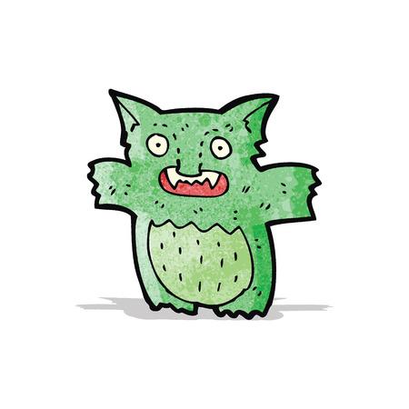 gremlin: cartoon little green gremlin