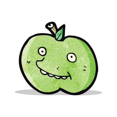 apple cartoon: funny apple cartoon character