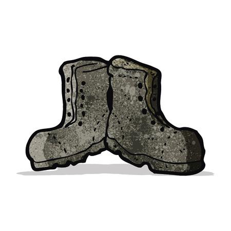 cartoon old boots