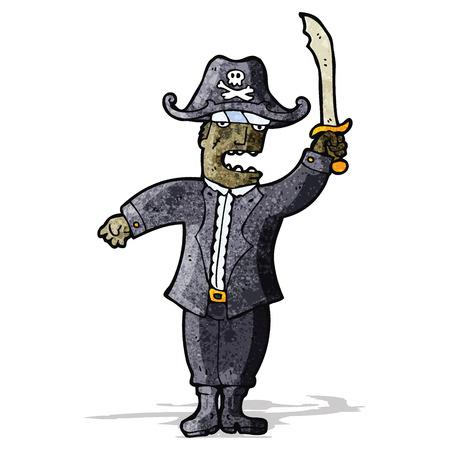 cartoon pirate captain Vector