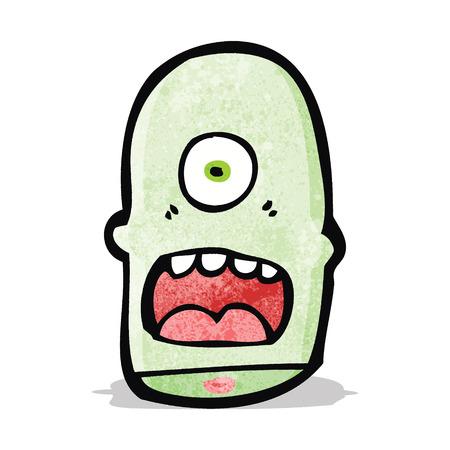 monster face: cartoon monster face