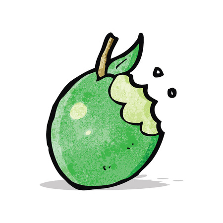 bitten: cartoon bitten apple