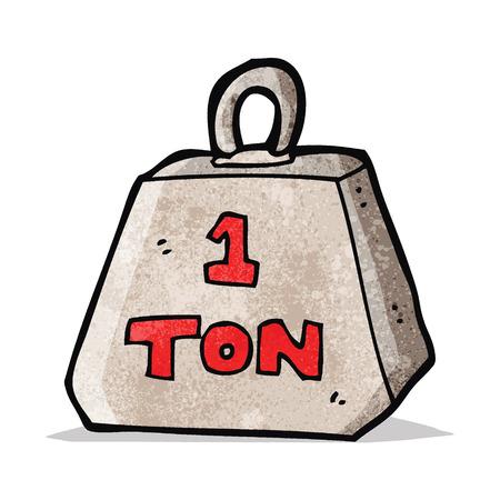 ton: karikatür bir ton ağırlığı Çizim