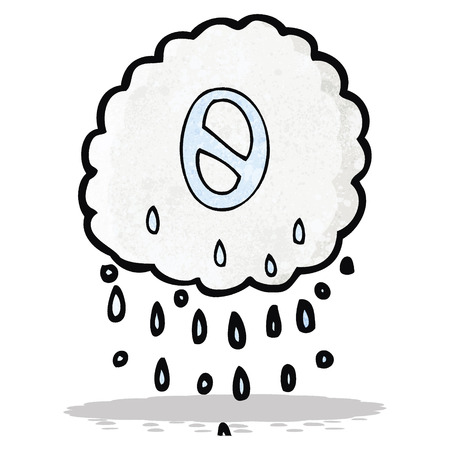 numbers clipart: cartoon rain cloud with number zero