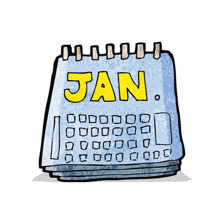 cartoon calendar: cartoon calendar Illustration