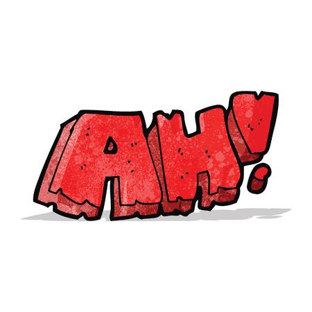 ah: cartoon comic book ah! scream