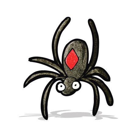 black widow: black widow spider cartoon Illustration
