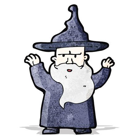 casting: cartoon wizard casting spell