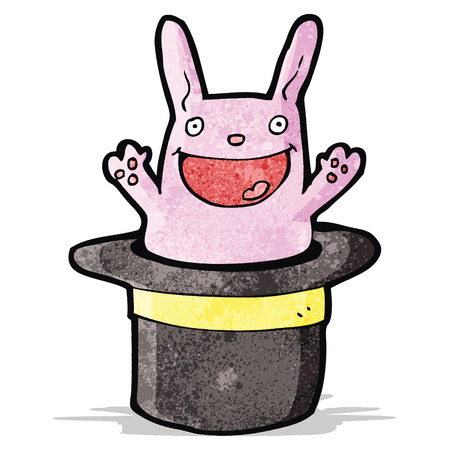 hat trick: coniglio cartone animato in tripletta Vettoriali