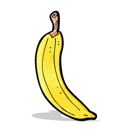 cartoon banana 矢量图像