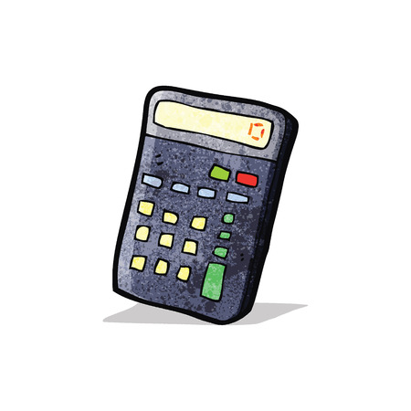 cartoon calculator 矢量图像