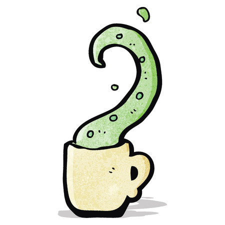 촉수: cartoon tentacle in teacup