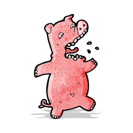 squealing: cartoon scared pig