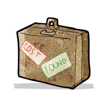 cartoon lost luggage Illustration